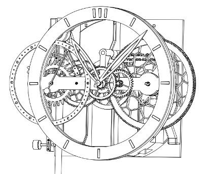 Ing nieur du temps modern day pendulum clocks for 3d architecture yverdon